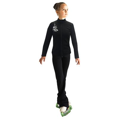 Брюки для фигурного катания «Оракул», размер 38-40, цвет чёрный
