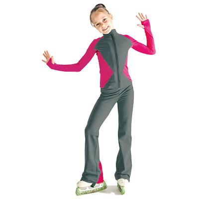 Брюки для фигурного катания «Электра», размер 38-40, цвет серый