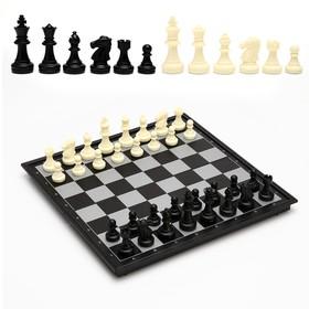 """Настольная игра 3 в 1 """"Классика"""": шахматы, шашки, нарды, магнитная доска 32х32 см"""