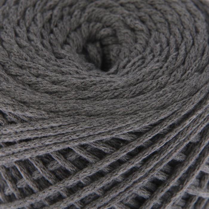 шнур для вязания без сердечника 100 хлопок ширина 2мм 100м95гр