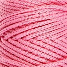 Шнур для вязания без сердечника 100% полиэфир, ширина 3мм 100м/210гр, (90 розовый)