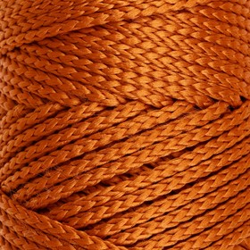 Шнур для вязания без сердечника 100% полиэфир, ширина 3мм 100м/210гр, (103 песочный)