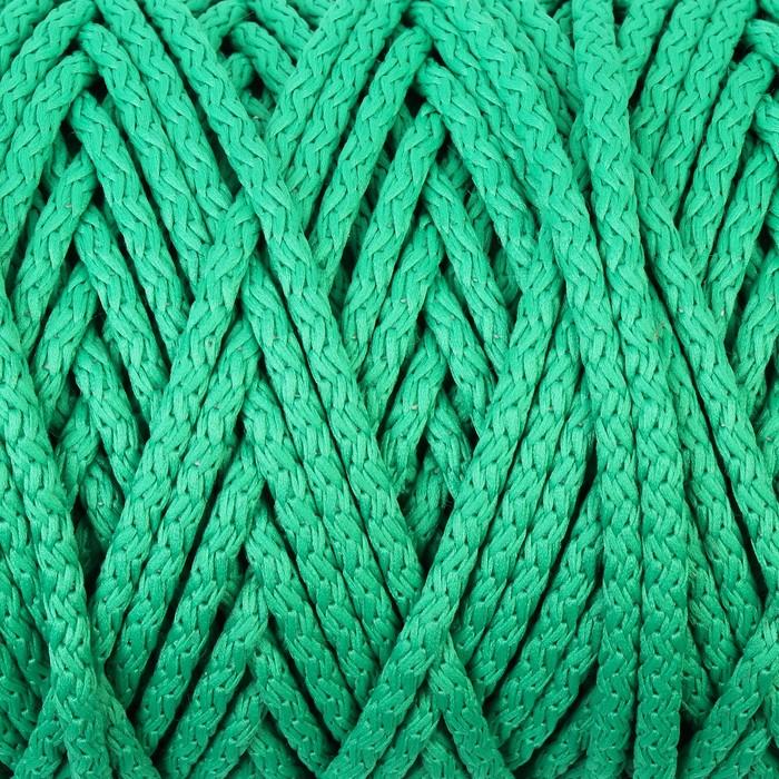 Шнур для вязания с сердечником 100% полиэфир, ширина 5 мм 100м/550гр (122 зеленый)
