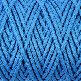 Шнур для вязания с сердечником 100% полиэфир, ширина 5 мм 100м/550гр (14 синий)