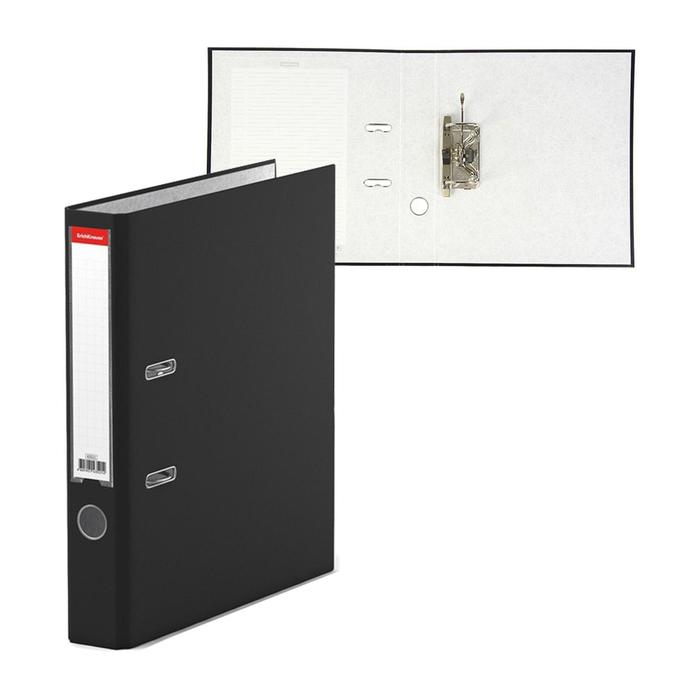 Папка–регистратор А4, 50 мм, GRANITE, разборный, чёрный, пластиковый карман, картон 1.75 мм, вместимость 350 листов
