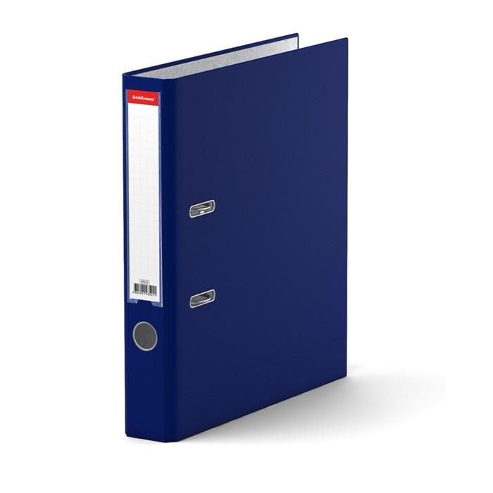 Папка–регистратор А4, 50 мм, GRANITE, разборный, синий, пластиковый карман, картон 1.75 мм, вместимость 350 листов