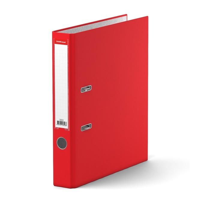 Папка–регистратор А4, 50 мм, GRANITE, разборный, красный, пластиковый карман, картон 1.75 мм, вместимость 350 листов - фото 408708668