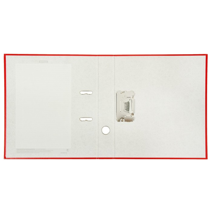Папка–регистратор А4, 50 мм, GRANITE, разборный, красный, пластиковый карман, картон 1.75 мм, вместимость 350 листов - фото 408708669