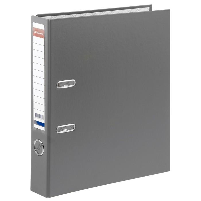 Папка–регистратор А4, 50 мм, GRANITE, разборный, серый, пластиковый карман, картон 1.75 мм, вместимость 350 листов
