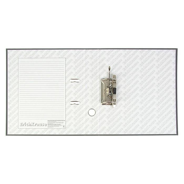 Папка–регистратор А4, 50 мм, GRANITE, разборный, серый, пластиковый карман, картон 1.75 мм, вместимость 350 листов - фото 450116154