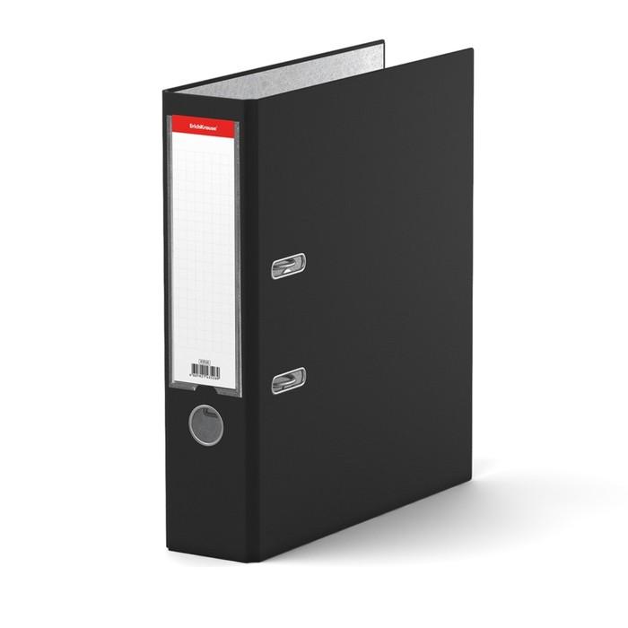 Папка-регистратор А4, 70 мм, GRANITE, разборный, чёрный, пластиковый карман, картон 1.75 мм, вместимость 450 листов