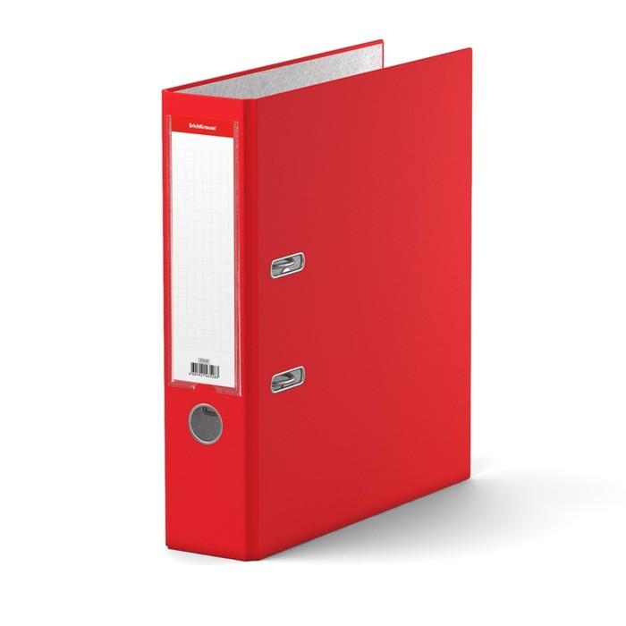 Папка-регистратор А4, 70 мм, GRANITE, разборный, красный, пластиковый карман, картон 1.75 мм, вместимость 450 листов