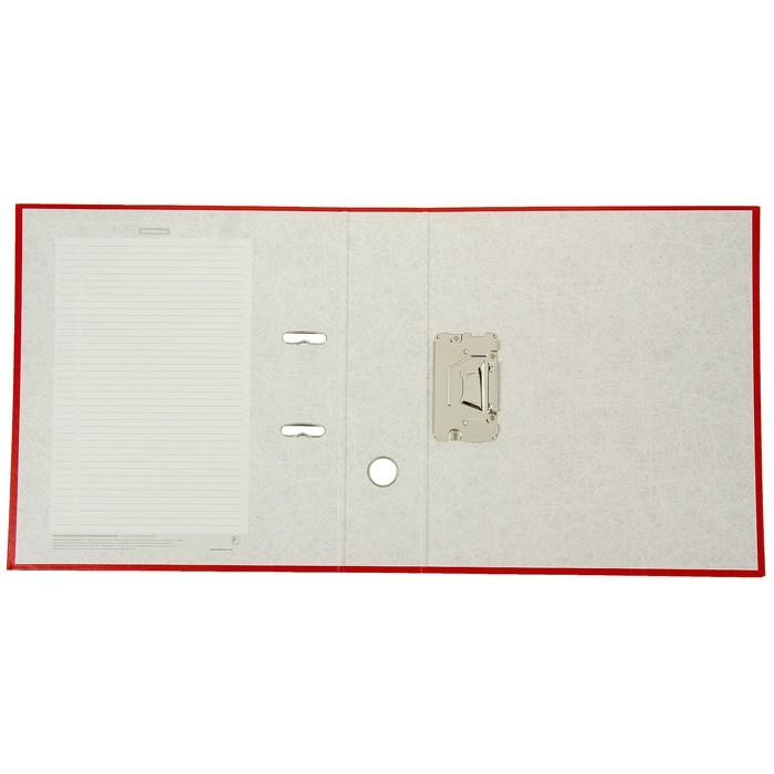 Папка-регистратор А4, 70 мм, GRANITE, разборный, красный, пластиковый карман, картон 1.75 мм, вместимость 450 листов - фото 408708685