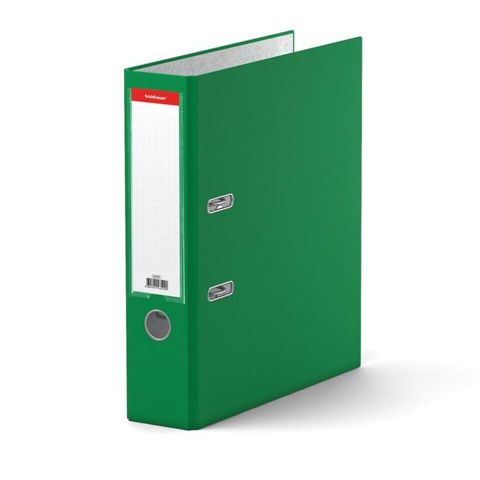 Папка-регистратор А4, 70 мм, GRANITE, разборный, зелёный, пластиковый карман, картон 1.75 мм, вместимость 450 листов