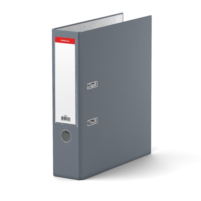 Папка-регистратор А4, 70 мм, GRANITE, разборный, серый, пластиковый карман, картон 1.75 мм, вместимость 450 листов