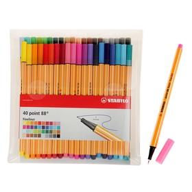 Набор ручек капиллярных 40 цветов Stabilo point 88, 0.4 мм, блистер 8840-1