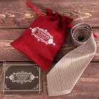 """Галстук в подарочном мешочке + открытка """"Лучшему отцу"""" - фото 8874189"""