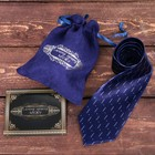 """Tie gift bag + greeting card """"the best husband"""""""