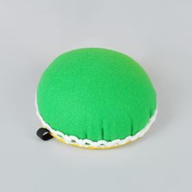 Игольница на руку, d = 8 см, цвет зелёный