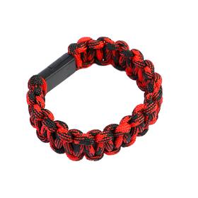 Кабель LuazON, Lightning - USB, 1 А, 20 см, плетеный браслет, красный