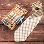 """Tie the card with a satin ribbon """"best dad"""""""