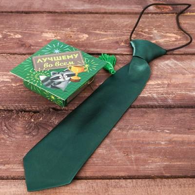 """Детский галстук в подарочной коробке """"Лучшему во всём"""""""