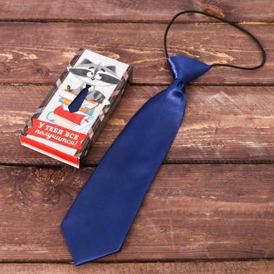 """Детский галстук в подарочной коробке """"У тебя все получится!"""""""