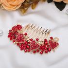 Гребень для волос «Красные сердца», 8,5 × 5,5 см