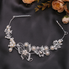 """Hair accessory """"Butterfly pearls"""" 25 cm"""