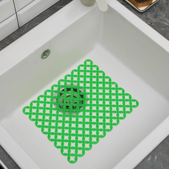 "Коврик в раковину ""Сетка"" 31x23,5 см, цвет МИКС"