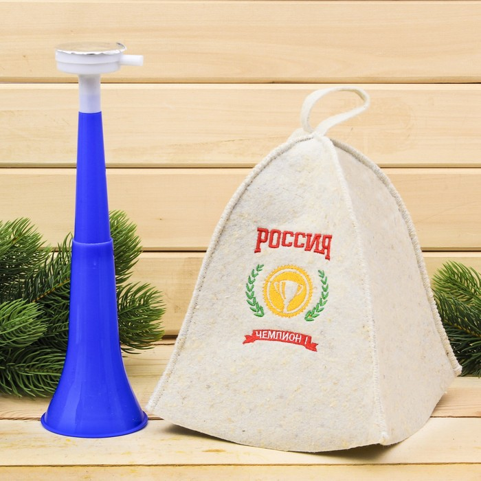 "Набор""Россия чемпион"": шапка и дудка"