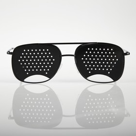Perforating training glasses for men, black