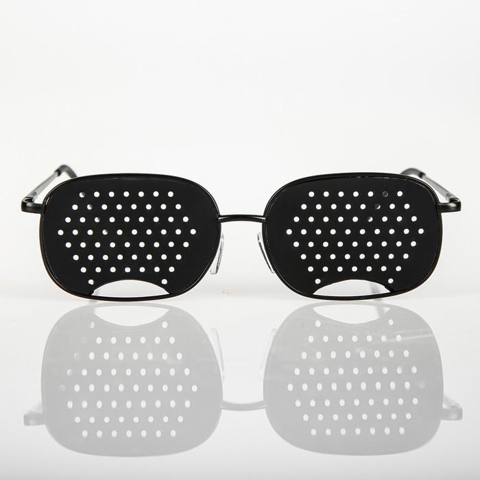 Перфорационные очки-тренажеры универсальные, черный