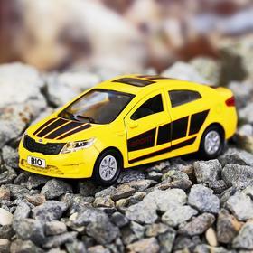Машина металлическая Kia Rio, открываются двери, багажник, инерция, 12 см, МИКС
