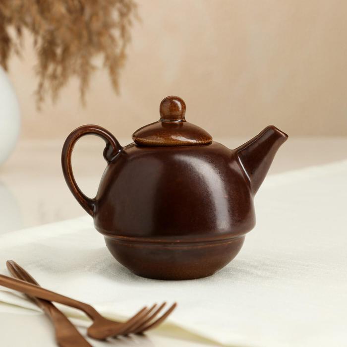 Чайник заварочный, коричневый, матовый, 0,25л
