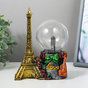 "Плазменный шар полистоун ""Из Парижа с любовью"" 17,5х13,5х7 см"