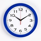 """Часы настенные круглые """"Классика"""", синий обод, 28х28 см микс"""