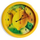 """Часы настенные круглые """"Лимоны"""", жёлтый обод, 28х28 см"""
