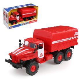 Машина инерционная «Пожарная служба», свет и звук
