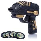 Pistol Shooter, shoots discs, MIX color