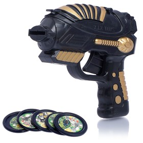 Пистолет «Стрелок», стреляет дисками, цвета МИКС в Донецке