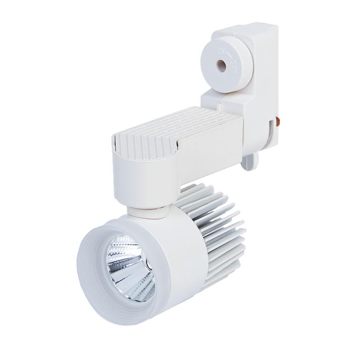 Трековый светильник Luazon TSL-004, 7 W, 560 Lm, 4000 K, холодный свет, корпус БЕЛЫЙ