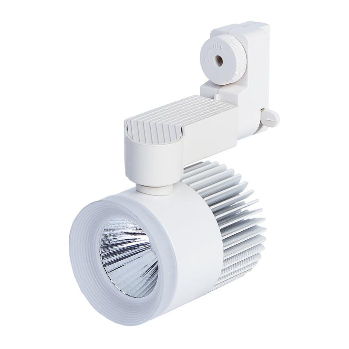 Трековый светильник Luazon TSL-007, 24 deg, 12 W, 960 Lm, 6500 K, холодн. бел., корпус БЕЛЫЙ