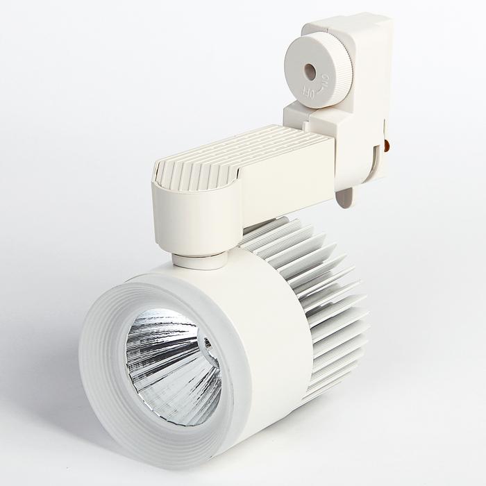 Трековый светильник Luazon TSL-008, 24 deg, 12 W, 960 Lm, 4000 K, дневной белый,  БЕЛЫЙ
