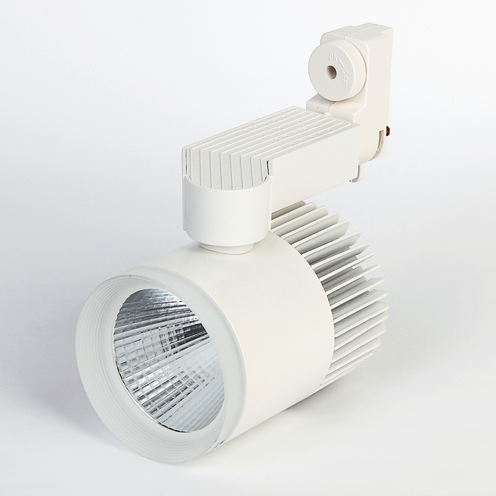 Трековый светильник Luazon TSL-012, 20 W, 1600 Lm, 4000 K, холодный свет, корпус БЕЛЫЙ