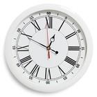 """Часы настенные круглые """"Классика"""", римские цифры, белый обод, 28х28 см"""