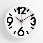 """Часы настенные круглые """"Классика"""", белый обод, 4 большие цифры, 28х28 см микс"""
