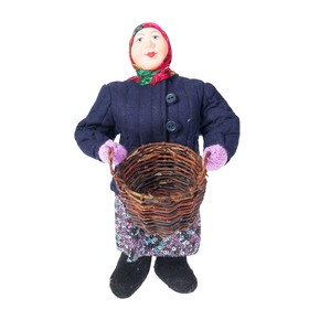 Сувенирная кукла 'Баба с корзиной' Ош