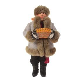 Сувенирная кукла 'Иван в полушубке' 28 см МИКС Ош