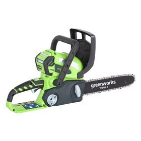 """Пила цепная GreenWorks G40CS30, 40В, 12"""", 3/8"""", 45 зв., БЕЗ АКК. И ЗУ"""